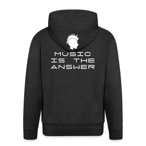 Mohawk Logo - Music is the Answer - Men's Premium Hooded Jacket