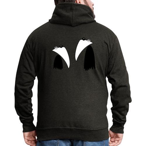 Raving Ravens - black and white 1 - Veste à capuche Premium Homme