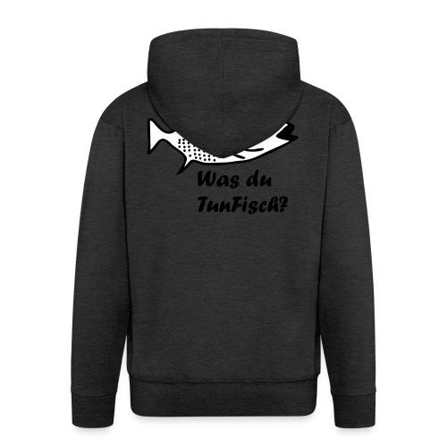 Was du tun Fisch? - Männer Premium Kapuzenjacke