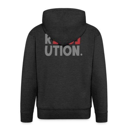 Revolution Love Sprüche Statement be different - Männer Premium Kapuzenjacke