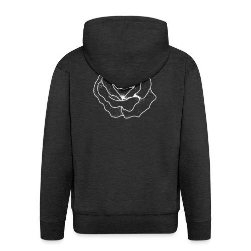 Female Exclusive Rose Dot White V-Neck T-Shirt - Men's Premium Hooded Jacket