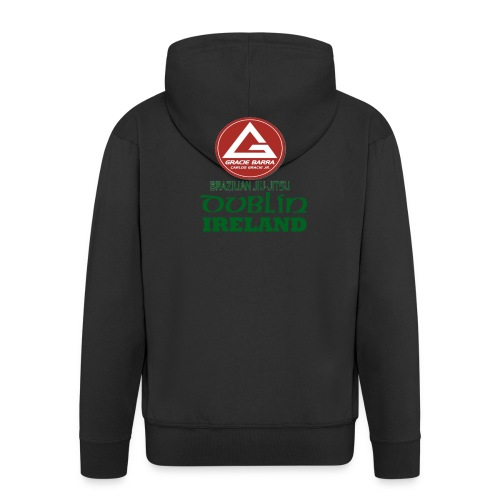 Gracie Barra Dublin Gaelic Celtic Font PNG - Men's Premium Hooded Jacket