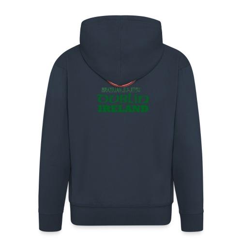 Gracie Barra Dublin Gaelic Celtic Font PNG - Men's Premium Hooded Jacket