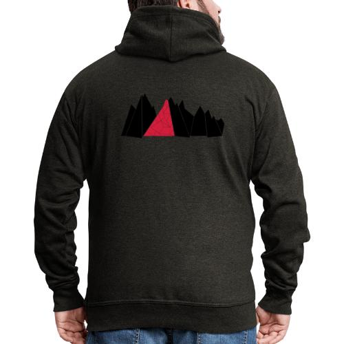 T-Shirt Mountains - Männer Premium Kapuzenjacke