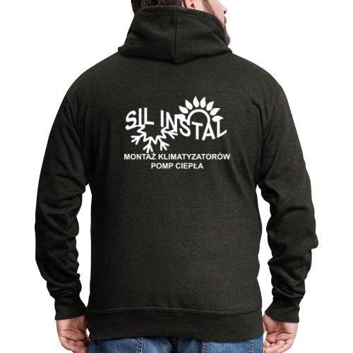 sil instal - Rozpinana bluza męska z kapturem Premium