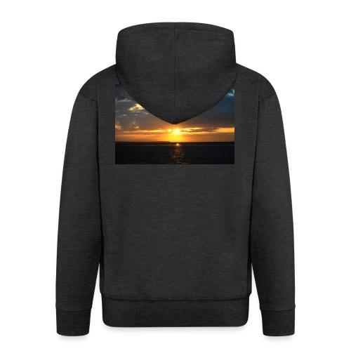 t-shirt zonsondergang - Mannenjack Premium met capuchon