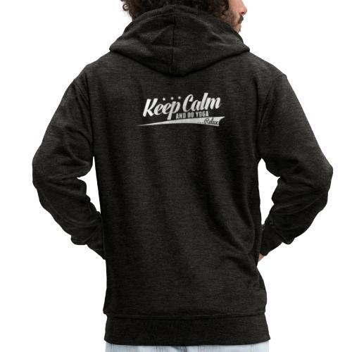 Yoga Relax Keep Calm - Männer Premium Kapuzenjacke