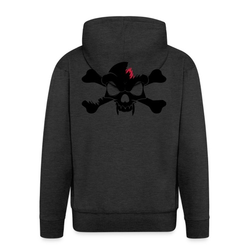 SKULL N CROSS BONES.svg - Men's Premium Hooded Jacket