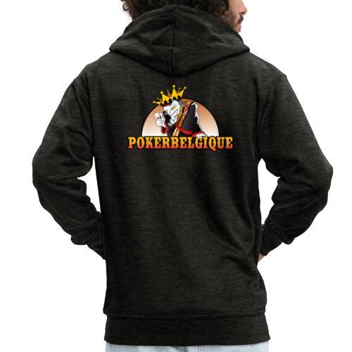 Logo Poker Belgique - Veste à capuche Premium Homme