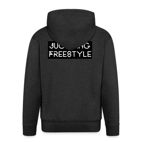 Hoodie Black Juggling Freestyle (Woman) - Männer Premium Kapuzenjacke