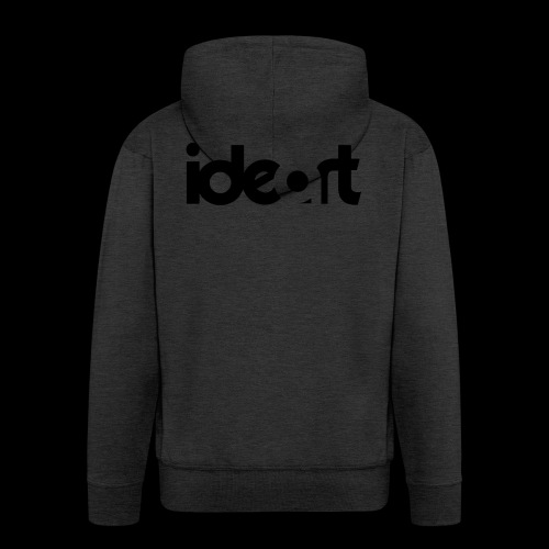 ideart logo sort - Herre premium hættejakke