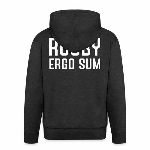 Marplo RugbyergosUM WHT - Felpa con zip Premium da uomo