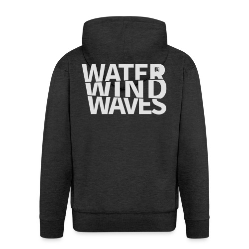 Water Wind Waves - Männer Premium Kapuzenjacke