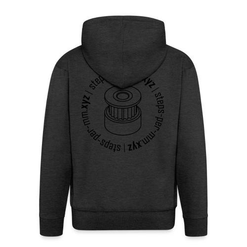 steps-per-mm Round Logo - Men's Premium Hooded Jacket