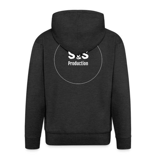 SandS. Standar kopp svart, hvit logo - Premium Hettejakke for menn