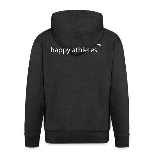 happy athletes - quer - Männer Premium Kapuzenjacke