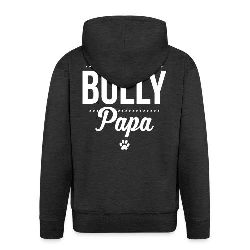 Stolzer Bullypapa Punkte - Männer Premium Kapuzenjacke