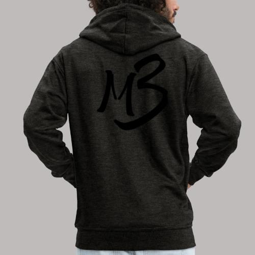 MB13 logo - Men's Premium Hooded Jacket