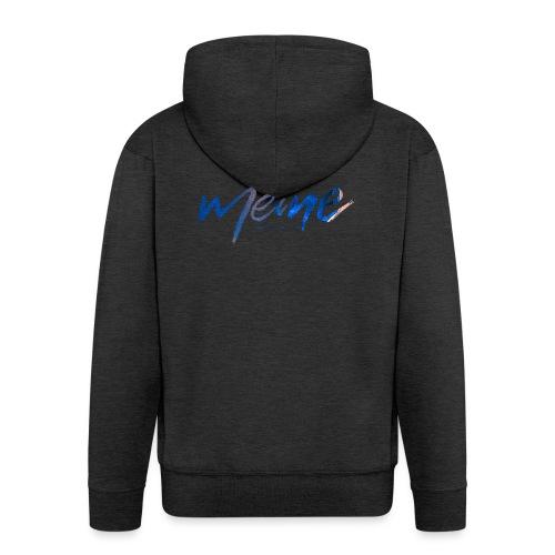 Meine Logo Blau - Männer Premium Kapuzenjacke