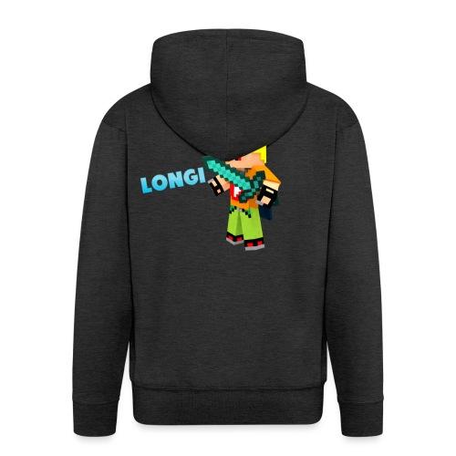 Kämpfender Longi Shirts - Männer Premium Kapuzenjacke