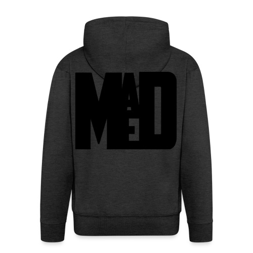 Maddem logo (Black) - Men's Premium Hooded Jacket