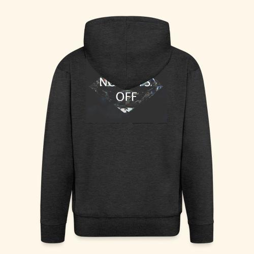 No Days Off - Felpa con zip Premium da uomo
