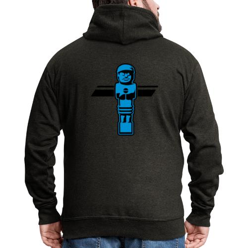 Soccerfigur 2-farbig - Kickershirt - Männer Premium Kapuzenjacke