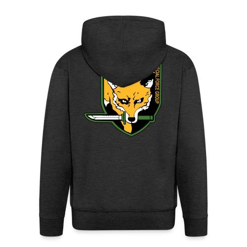 Fox Hound Special Forces - Miesten premium vetoketjullinen huppari