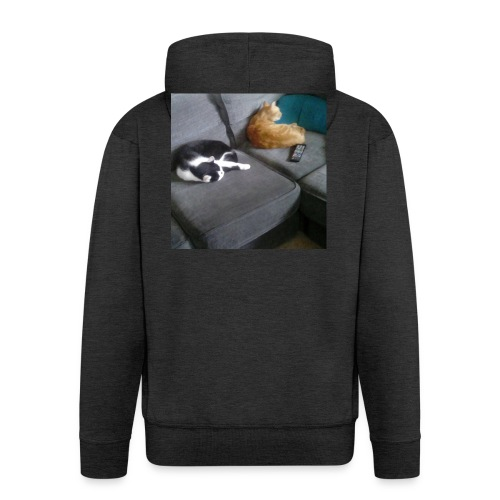 The Crazy Cute Cats - Men's Premium Hooded Jacket