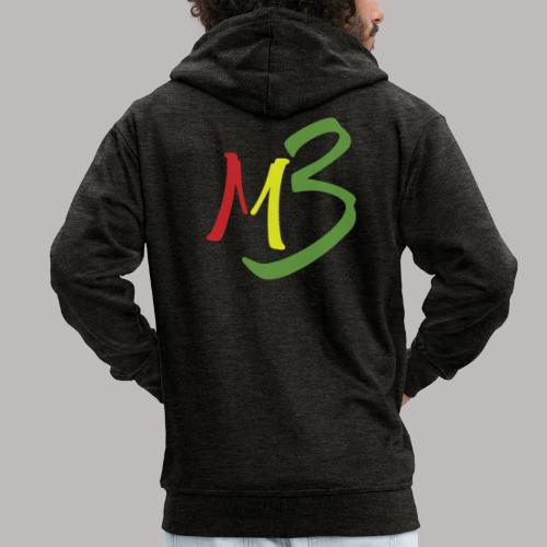 MB13 Logo rasta1 - Men's Premium Hooded Jacket