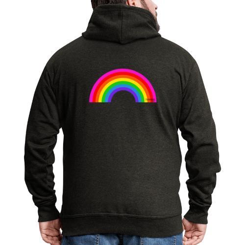 Rainbow - Miesten premium vetoketjullinen huppari
