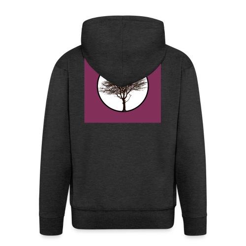 Baum in Kreis - Männer Premium Kapuzenjacke