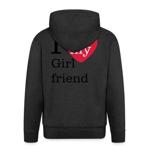 I Love my Girlfriend - Valentinstag - Männer Premium Kapuzenjacke