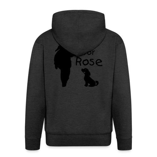 A Smile for Rose - Felpa con zip Premium da uomo