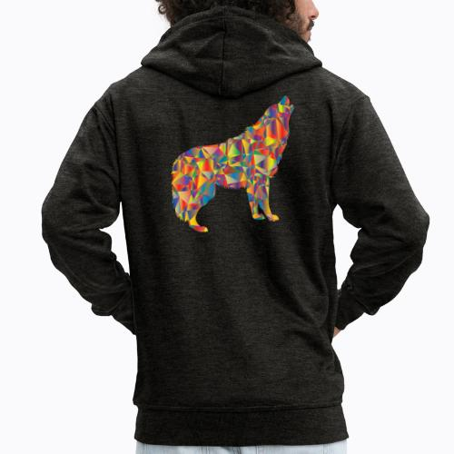 howling colorful - Men's Premium Hooded Jacket