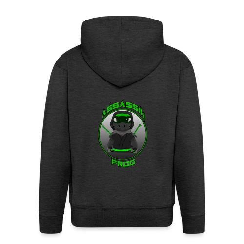 Assassinfrog logo 2 - Men's Premium Hooded Jacket