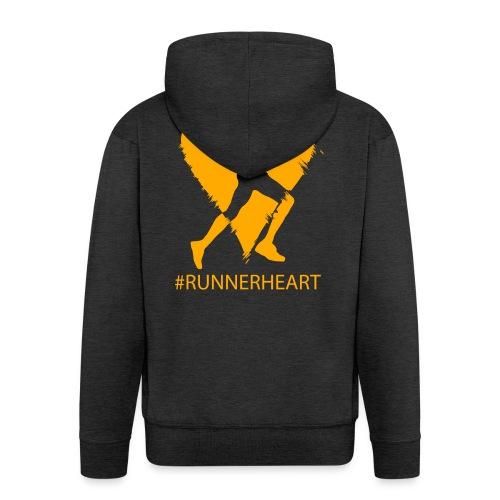 #Runnerheart man - Männer Premium Kapuzenjacke