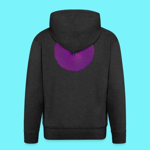 Fibonacci image with 4 fibonacci spirals - Men's Premium Hooded Jacket