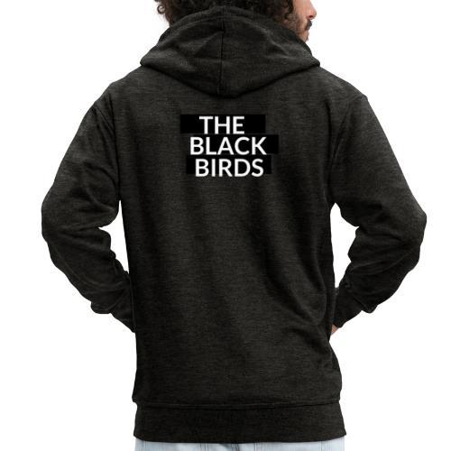 The Black Birds - Felpa con zip Premium da uomo