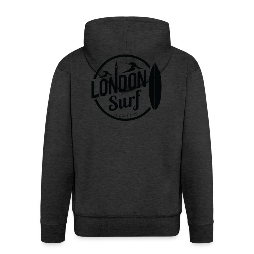 London Surf - Black - Men's Premium Hooded Jacket