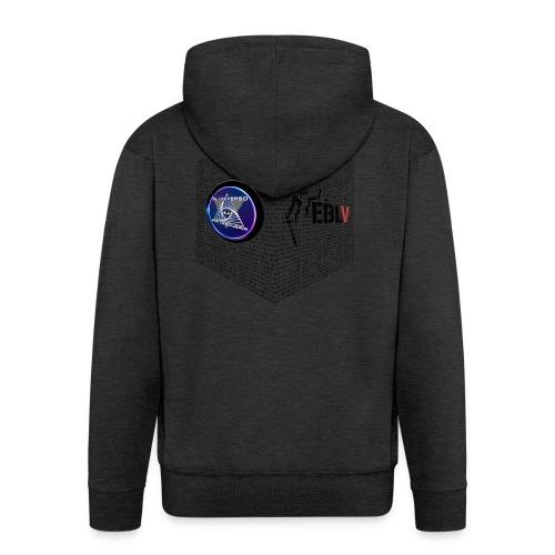 disen o dos canales cubo binario logos delante - Men's Premium Hooded Jacket