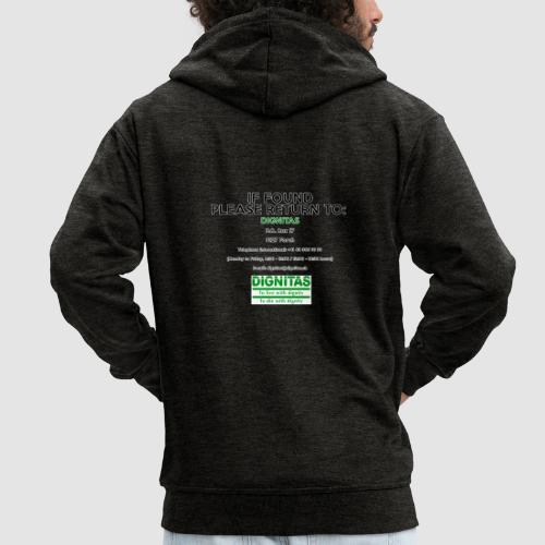 Dignitas - If found please return joke design - Men's Premium Hooded Jacket