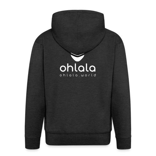Ohlala Boss WHITE - Veste à capuche Premium Homme
