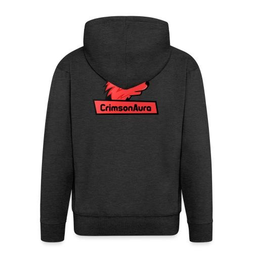 CrimsonAura Logo Merchandise - Men's Premium Hooded Jacket