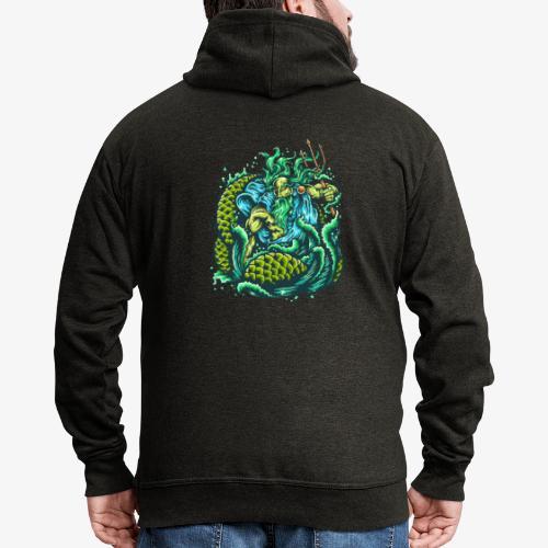 Gott des Meeres - Männer Premium Kapuzenjacke