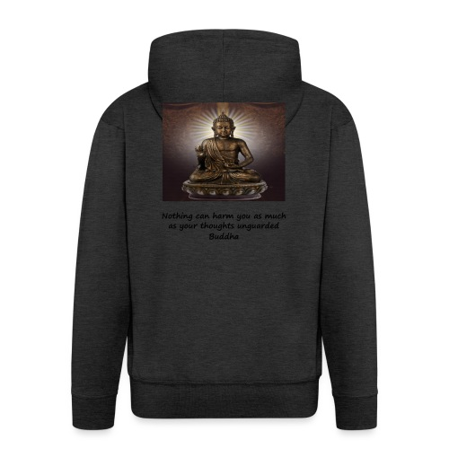 Thoughts Can Harm. - Men's Premium Hooded Jacket
