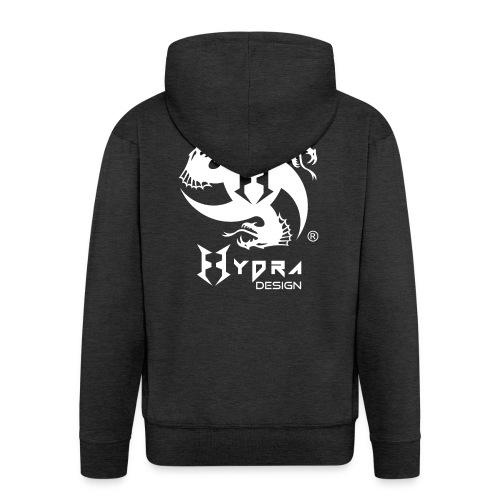Hydra DESIGN - logo white - Felpa con zip Premium da uomo