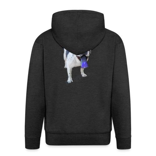 Bulldog francés. BullgTime. Dog Azul Turquis - Chaqueta con capucha premium hombre
