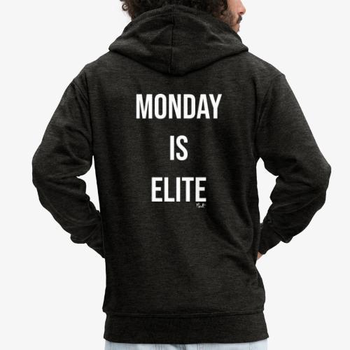 monday is elite - Felpa con zip Premium da uomo