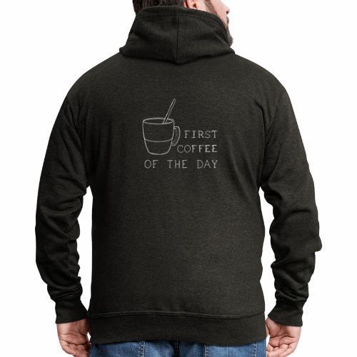 First coffee - Veste à capuche Premium Homme